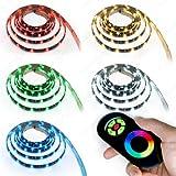 LED RGB Strip Streifen Set - 30 LEDs pro Meter mit Touch Fernbedienung Schwarz 3 Meter