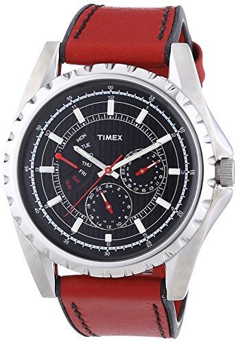 Timex-Retrograde-T2N109-Reloj-de-caballero-de-cuarzo-correa-de-piel-color-rojo