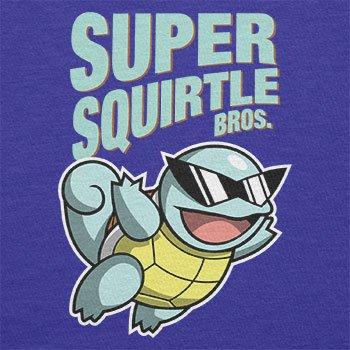 TEXLAB - Super Squirtle Bros. - Herren Langarm T-Shirt Marine