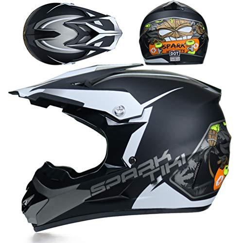 Ragazzi adulti bicicletta casco del motociclo off road leggero anti collisione pieno viso moto Caschi all'aperto Mountain Bike Motocross tappi di sicurezza per tutte le stagio
