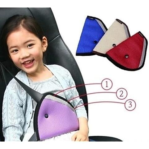 LOBZON coche niño tapa de seguridad Arnés Correa Cinturón de Seguridad Ajustador Pad niños cinturón de seguridad Clip