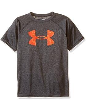 Under Armour Big-Camiseta de deporte para niño Carbon Heather FR: XS (talla fabricante: YXS)