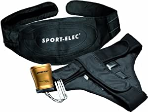 sport elec body control system duo ceinture abdominale short fessiers taupe blanc. Black Bedroom Furniture Sets. Home Design Ideas