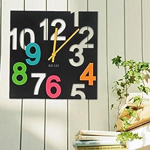 Reloj de Pared,WOLFBUSH el Hueco de la Pared de la Sala 3D en la Oficina de la Decoración Dormitorio Grande de Color Café en Silencio el Reloj Digital marca Wolfbush