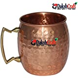 Handmade Pure Copper Hammered Moscow Mule Mug by DakshCraft