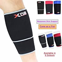 Calf Shin Support Neoprene Shin Support Splints Socks Elastic Guard Brace Medical Strap Leg Compression Sleeves Striped Calf Cep Sleeves Protector shin treatment Running Walking Sport Relieving Pain Preventing Injury - M3632