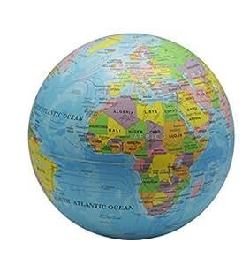 Equinoxe Cadeaux Globe terrestre rotatif Bleu