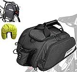 DAsheng Fahrradtasche Gepäckträger Bike Rücksitz Pannier Beutel, Fahrrad Pendler Tragetasche mit Wasserflasche Pocket