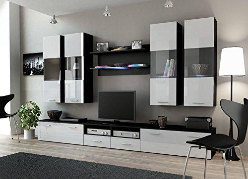 Wohnwand DREAM I, Anbauwand, Wohnzimmer Möbel, mit LED Beleuchtung