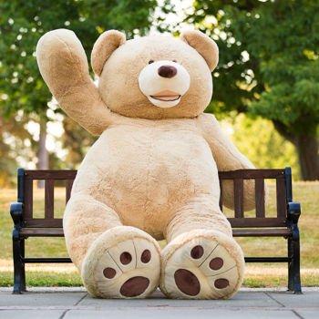 (MorisMos Groß Teddybär Weiches Plüsch Spielzeug Braun 260cm/103)