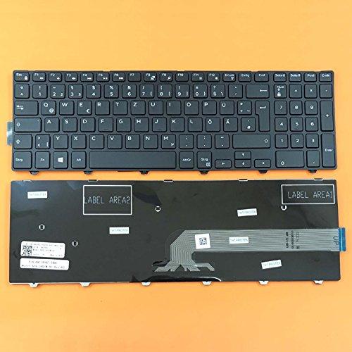 THT Protek DEUTSCHE - Schwarz Tastatur Keyboard komp. für Dell Inspiron 15 3551, 15 3552
