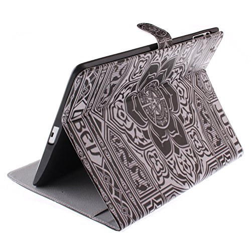 Ipad 2 3 4 Wallet Cover, Ipad 2 3 4 Flip Leather Case Back Cover, Ukayfe Stand Function PU Leather Case Premium Soft Slim Cover Bookstyle with Magnet Closure Credit Card Holder Slots for Apple iPad 2  floral mandala