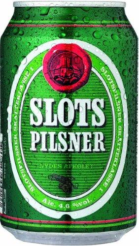 Slots Pilsner Alc. 4,6% Vol. 24x 330 ml - dänisches Pilsener (Pilsner Bier)