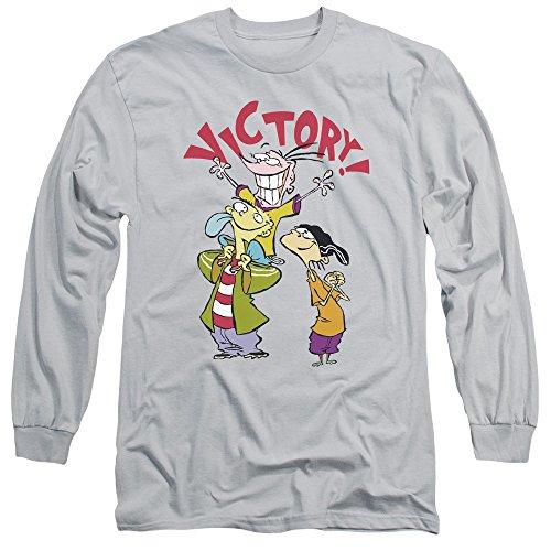 Ed Edd N Eddy - Herren-Sieg-T-Shirt Silver