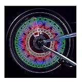 Lmeno Bunte DIY 32-Muster Fahrrad Speichenlicht Speichenreflektor USB aufladbare Super Bright 32 LED Fahrrad sprach Lichter Wasserdicht Beleuchten Radfahren Rad Reifen Ventil Lichter Fahrradbeleuchtung Speichen Licht Lampe Blinker Signal lights