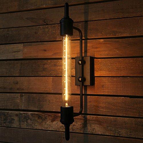 LIVY Amerikanische rustikale Bett Spiegel Vintage industrielle Wind Terrasse Bar Treppe Dampf Rohr Wandlampe