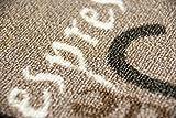Teppich Modern Flachgewebe Gel Läufer Küchenteppich Küchenläufer Braun Beige Schwarz Creme mit Schriftzug Coffee Cappuccino Espresso Macchiato Größe 80×150 cm - 6