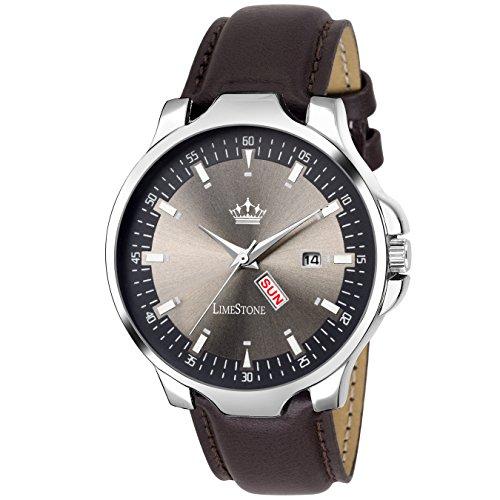 LIMESTONE Magnum Analogue Round Grey Dial Men's Watch - LS2729