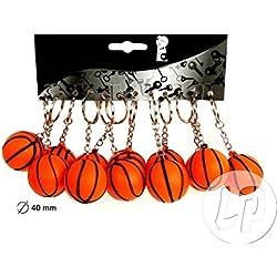 Lote / Conjunto de 12 piezas - Llavero con pelota de baloncesto 4cm