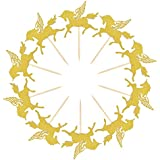 25 Pieces Golden Unicorn Pegasus Cupcake Toppers Glitter Pegasus For Cupcake Party , Wedding Decoration