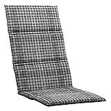 Müllerland Kettler Sesselauflage 120x50x3 cm Dessin: 790 Textil 0309001-8790 Sesselauflagen Karo Grau 100 % Baumwolle L/B/H ca. 120/3/50 cm