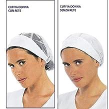 Cuffia bianca da lavoro cappello donna Misura unica in cotone a75a5282eee4