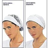Cuffia bianca da lavoro cappello donna Misura unica in cotone (cuffietta con rete)