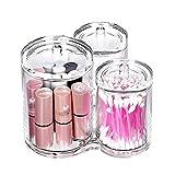 wicemoon Acryl Kosmetik Box Jewelry Box Aufbewahrungsbox Drei Zelle Kristall Beschichtete Baumwolle Decke Lippenstift