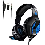 ELEGIANT Gaming Headset, Stereo Sound 3.5mm Heasdset Jack Over-Ear PC Headphones with Noise Cancelling Mic & Volume Control for Xbox One PS4 Pro/PS4 PC Laptop Tablet Mac