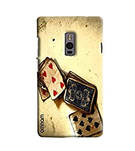 Omnam Painted Playing Cards Effect Printed Designer Back Cover Case For OnePlus Two