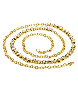 Saraa Dazzling Gold & White Kamarband For Girls/Women