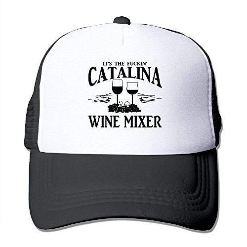 Preisvergleich Produktbild Unisex-Adult Fuckin' Catalina Wine Mixer Mesh Dancing Cap Hat Black