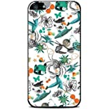 Modelabs Made In France Coque auto cicatrisante en silicone pour iPhone 4 Motif Sicile Pattern Multicolore