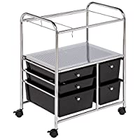 Honey-Can-Do CRT-01512 Hanging File Cart, 28.74H x10.04W