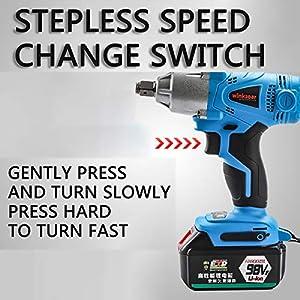 ASAP CHIC Llave de impacto inalámbrica – Pistola de impacto eléctrica de 20 V – Kit de controlador de impacto de alto par para proyectos de hogar y bricolaje