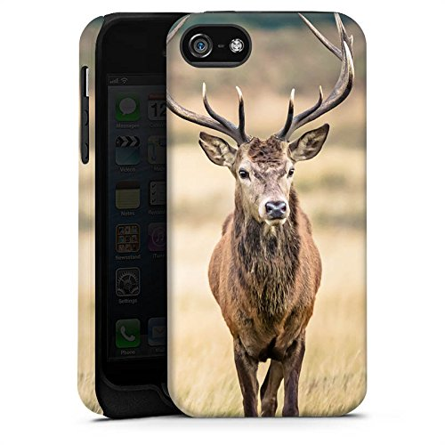 Apple iPhone 6 Plus Hülle Case Handyhülle Hirsch Wald Tier Tough Case matt