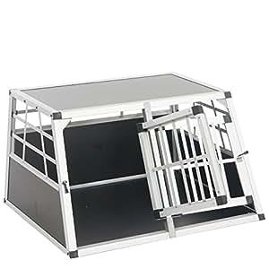 Trasportino da cani per auto t89 alluminio 69x89x50cm con for Trasportino per cani amazon