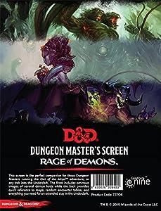 Gale Force Nine LLC GFN73704 D&D DM Screen-Rage of Demons, Multicolor Pantalla de proyección