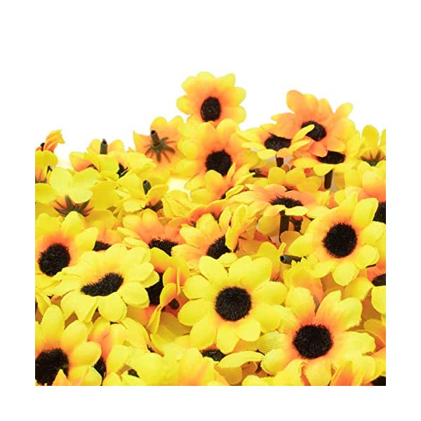 AKORD – 100Margaritas Artificiales para Manualidades, Bodas y Fiestas, plástico, Yellow/Black, 0.38 x 0.38 x 0.2 cm