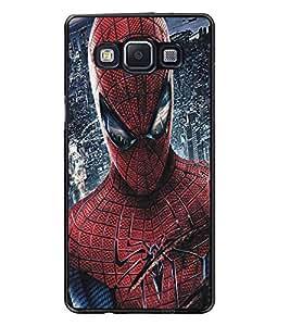 PrintDhaba Spiderman D-5186 Back Case Cover for SAMSUNG GALAXY E5 (Multi-Coloured)