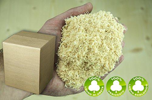 Segatura legno di Abete vergine 100% 50 lt no additivi chimici tipo Farina perfetto per Pulizia e Asciugatura Giacigli animali Accendifuoco