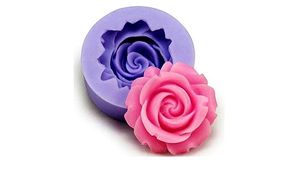 6.9 3 cm Qifumaer 1/× Moule /à Muffins Silicone Moule de 3D Silicone Forme de Coeur et Fleur Cuisson Cake Pan Muffin Coupes Main Savon Moules Biscuit Chocolat Ice Cube Tray Mold Bricolage Size 6.7