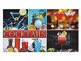 GRAZDesign 721571_57 Wandsticker Aufkleber Wandspruch für Küche Schriftzug Cocktails Getränke Drinks (100x57cm)