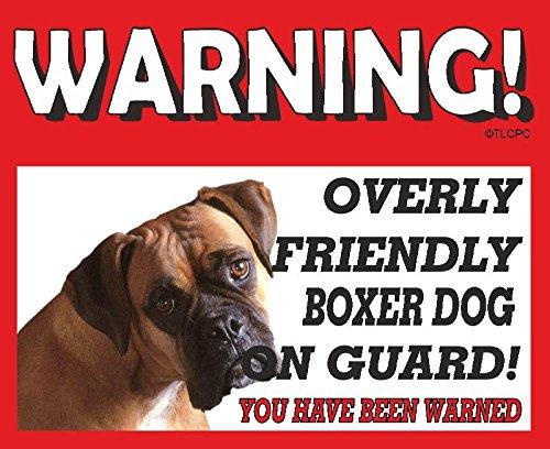 Boxer (young Adult) GUARD DOG METAL SIGN 44
