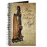 CafePress–Irish Rose Harfe–Spiralbindung Journal Notizbuch, persönliches Tagebuch, liniert