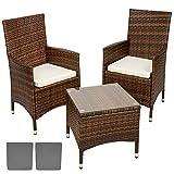 TecTake Conjunto muebles de Jardín en Aluminio y Poly Ratan ...