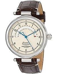 Akribos XXIV Reloj Pantalla analógica cuarzo Marrón para Hombre