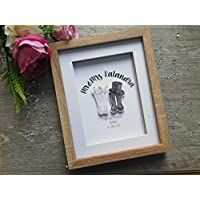 mr and mrs wellies, personalised wellington boot prints, Personalised wedding gift, Wedding paper cut, 2 sizes available