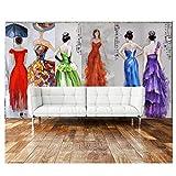 Mrlwy 3D Wallpaper Europa Abendkleid Lady Malerei Tv Hintergrund Wand Tapete Für Wände-250X175CM