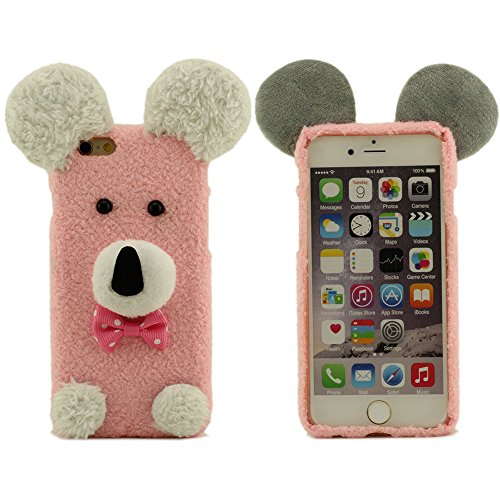 Warm Baumwollmaterial Schutzhülle für iPhone 6 iPhone 6S, Größe 4.7 Zoll Farbe Rot, Puppy Form schützende Hülle, Puppy Doll, Puppy Plüsch Pink